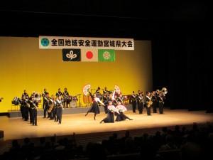 広瀬高校吹奏楽部のマーチング演奏