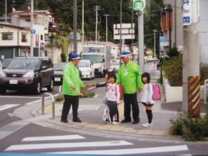 交差点での巡視活動